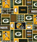 Green Bay Packers Cotton Fabric 58\u0022-Block
