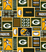"Green Bay Packers Cotton Fabric 58""-Block, , hi-res"