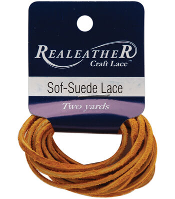 "Sof-Suede Lace .094"" Carded 2yd-Gold Nugget"
