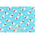 Snuggle Flannel Fabric 42\u0022-Polar Bears With Scarves