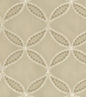 Williamsburg Upholstery Fabric-Tanjib Emb/Hemp