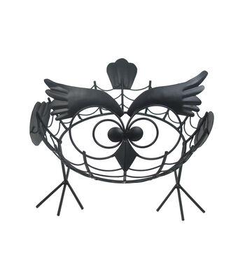 Maker's Halloween Iron Owl Pumpkin Holder