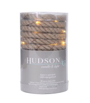 Hudson 43 30 ct LED Rope Garland-Warm White