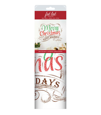 Fab Lab™ Holiday Craft Wall Decal-Vintage Merry Christmas