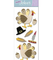 Touch Of Jolee's Dimensional Sticker-Thanksgiving Turkey, , hi-res