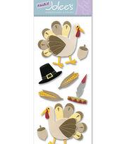 Touch Of Jolee's Dimensional Sticker-Thanksgiving Turkey, , hi-res