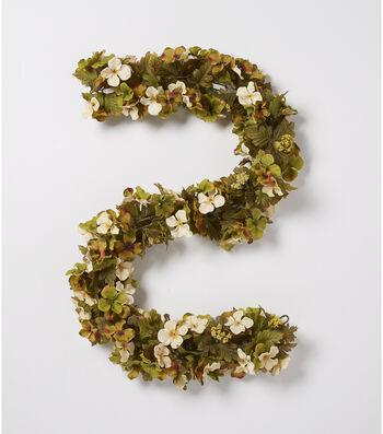 Blooming Autumn 66'' Hydrangea Chain Garland-White & Green