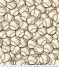 Anti-Pill Fleece Fabric 61\u0022-Vintage Baseballs