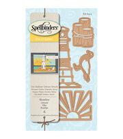 Spellbinders™ Die D-Lites 4 Pack Etched Dies-Shoreline, , hi-res