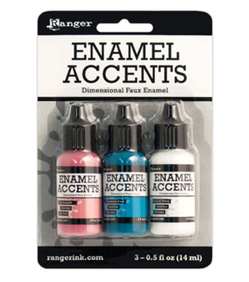 Ranger® Pack of 3 Enamel Accents-Girly