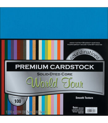 """Core'dinations Value Pack Cardstock 12""""X12"""" 100/Pkg-World Tour-Smooth"""