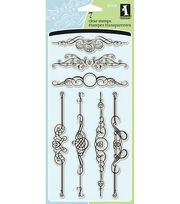 Inkadinkado Clear Stamps-Ornate Flourish, , hi-res