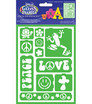Gloss Enamels Stencil Sheet 1/Pkg-Just Groovy, , hi-res