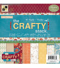 DCWV 8\u0022x8\u0022 Premium Cardstock Stack-Crafty