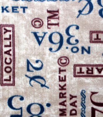 "Anti-Pill Fleece Fabric 59""-Market Day Words"