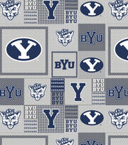 "Brigham Young University Cougars Fleece Fabric 58""-Gray Block, , hi-res"