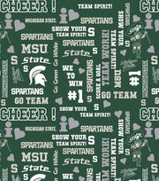 "Michigan State University Spartans Cotton Fabric 44""-Glitter, , hi-res"