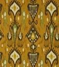 Home Decor 8\u0022x8\u0022 Fabric Swatch-Print Fabric Robert Allen Khandar Cinnabar