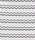 Nursery Cotton Fabric 43\u0022-Multi Grey Chevron
