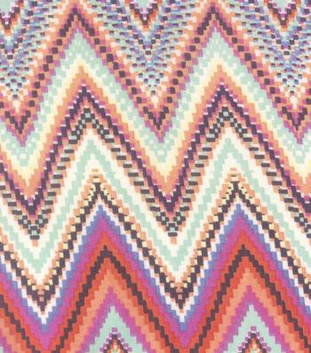 "Southwest Georgette Fabric 44""-Chevron"