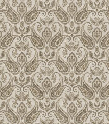 "Eaton Square Print Fabric 54""-Mango/Charcoal"