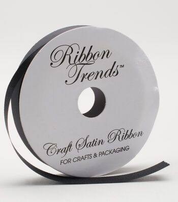 Ribbon Trends Value Craft Satin Ribbon 1/2''-Black