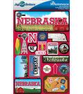 Jet Setters Dimensional Stickers-Nebraska