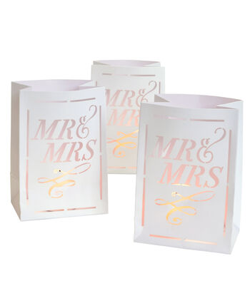 Save The Date™ 3 Pack Mini Luminaries-Mr & Mrs