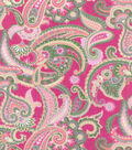 Buttercream™ Olivia Collection Cotton Fabric-Paisley Metallic Gold