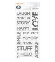 "Fiskars Teresa Collins 4""X8"" Clear Stamps- Words, , hi-res"