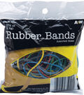 A&W Office Supplies Rubber Bands 1.5oz-Assorted Colors & Sizes