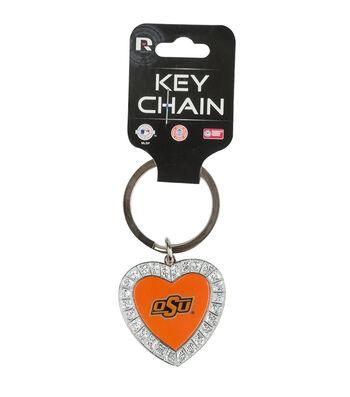 Oklahoma State University Cowboys Heart Keychain