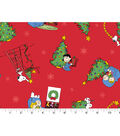 Christmas Cotton Fabric 43\u0022-Peanuts Christmas Morning
