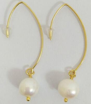 hildie & jo™ Gold Drop Earrings-Pearls