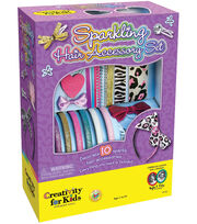 Creativity For Kids Sparkling Hair Accessory Kit, , hi-res