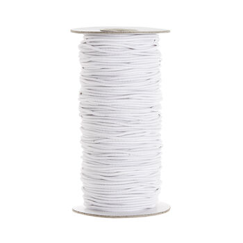 White Elastic Cord, 2mm thick, 72 yd. roll
