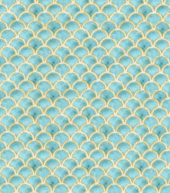 "Premium Quilt Cotton Fabric 44""-Scallops Metallic"