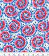Patriotic Cotton Fabric 43\u0027\u0027-Tie Dye & Stars