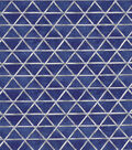 Asian Inspired Cotton Fabric 43\u0022-Bamboo Triangles Blue