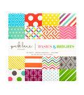 DCWV 8\u0022x8\u0022 180 sheet  printed stack: Brights Basics