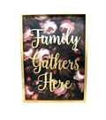 Fall Into Color 3D Family Gathers Here Wall Decor