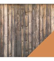 American Crafts Travel Dark Hardwood Floor Double-Sided Cardstock, , hi-res