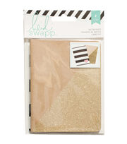 "Heidi Swapp Notebooks 3.5""X5"" 2/Pkg-Kraft/Gold, , hi-res"