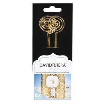 David Tutera™ Bridal Collection Gold Circle Card Holder Picks, 6pcs.