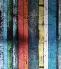 Novelty Cotton Photo Real Fabric 44\u0022-Multicolor Wood