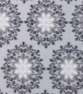 Blizzard Fleece Fabric 59\u0022-Multi Gray Medallions