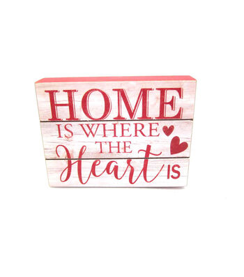 Valentine's Day Word Block-Home Is Where the Heart Is