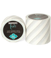"Heidi Swapp Marquee Love Washi Tape 2""-Silver Foil Pinstripe, 9', , hi-res"