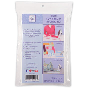 """Sew Simple Fusible Interfacing 58/60""""X36"""""""