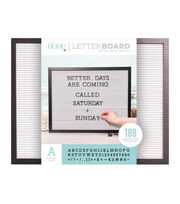 DCWV Home 20''x16'' Black & White Letter Board with 1'' Black Letters, , hi-res